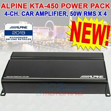 ALPINE KTA-450, POWER PACK CLASS D 4 CHANNEL AMPLIFIER DYNAMIC PEAK POWER (DPP)