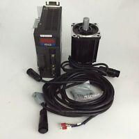 1KW Nema34 AC220V Servo Motor Driver Kit 2500RPM 4Nm & Cables Textile Machinery