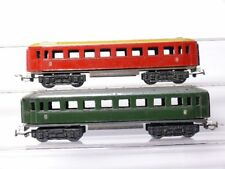 PIKO H0 2 PEZZI VECCHIO d-vagone TRENO 2° classe verde e Marrone-rosso per