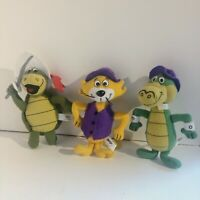 2000 Hanna Barbera Dairy Queen Plush Touche Turtle Top Cat Wally Gator Lot of 3