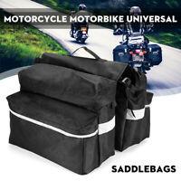 Motorcycle Scooter ATV Waterproof Saddlebags Saddle Swingarm Side Bag Rear B Ehc