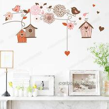 Jaula De Pájaro Flor Pegatinas De Pared Mural Decoración para el Hogar Arte Calcomanía Vinilo Papel Pintado