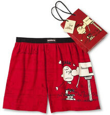 PEANUTS Boxers Boxer Shorts SMALL 28-30 SNOOPY Charlie Valentine Love NEW Men's