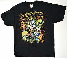 DC The Joker Ed Hardy Parody XL Black Shirt X-Large New
