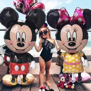 Minnie Mickey Mouse 2pc Large Dolls Birthday Party Foil Balloons Decorations