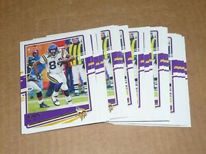2020 Panini Donruss RANDY MOSS BASE LOT OF 25 CARDS VIKINGS #165