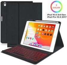 iPad Air 3 10.5 inch 3rd Gen Wireless BT Keyboard Case, Backlit Detachable
