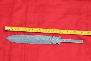 damascus steel dagger random pattern blank billet blade making your own knife