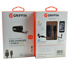 Griffin In-Car 12v/w 2.4A MFi Lightning USB Fast Charger For iPhone/iPod/iPad UK