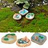 3stk Miniatur Landschaft Teich Harz Handwerk Puppenhaus Garten Landscape Pool