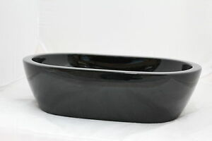 NEW RECTANGLE Basin Counter Top BLACK Ceramic - 540mm W x 350mm D x 150mm HIGH