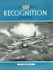 RECOGNITION JOURNAL MAR 54 C-119 X-3 F-84F SA-16 DH.110 F-94 AUSTER SEA VENOM