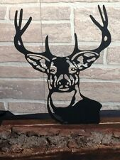 Buck Made from Metal Set in Wood or Stone - Home Decor - Inside Out Side Decor