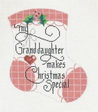 SP.ORDER - Danji  Granddaughter  Mini Stocking handpainted Needlepoint Canvas