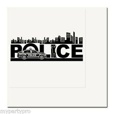 Police City Lunch Napkins Birthday Party Supplies law enforcement