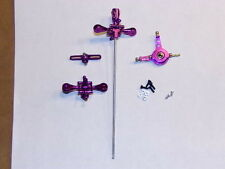 RC Helicopter Purple CNC Metal Head Upgrade kit for LAMA V3 V4