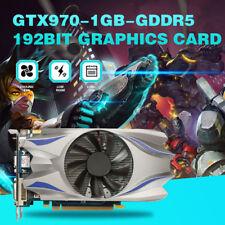 GTX970 Carte Graphique GTX 970 VIDEO Jeu 192bit pour Nvidia GeForce 1 g