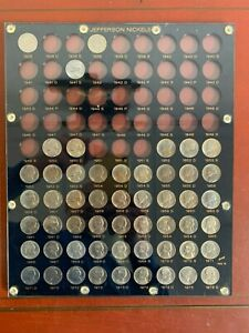 Lot of (53) 1938-1975 Capitol Holder Jefferson Nickel PART SET