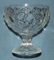 Vintage pressed glass stemmed sundae / ice cream / trifle stemmed dish / bowl