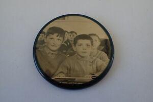 ANCIEN MIROIR DE POCHE PHOTO DE CLASSES ENFANTS DU LIMOUSIN SANS PUB