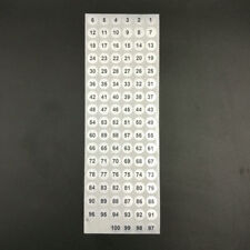 2000pcs Serial number 1 to 100 Label Stickers Silver Round Waterpproof 10mm