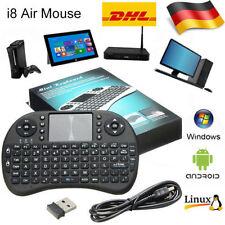 Mini Funk Tastatur mit Touchpad kabellos Wireless Keyboard für PC/TV BOX /PS3 RQ