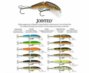 Rapala Jointed // J05 // 5cm 4g Fishing Lures (Choice of Colors)