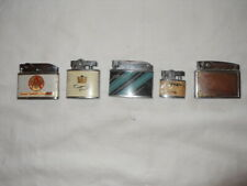 """Lot of 5 restored to working condition """"automatic"""" cigarette lighters lot # 5"""