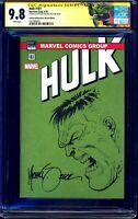 HULK # 181 ~ CGC SS 9.8 ~  MIKE ZECK original sketch and signature ~ BLANK COVER