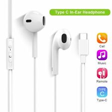 Type-C USB C Headset In-ear Noise Canceling Audio Headphone Earphone with Mic