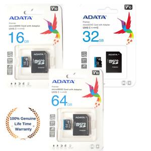 16GB 32GB 64GB ADATA Premier microSDXC/SDHC memory card UHS-I Class 10 + adapter