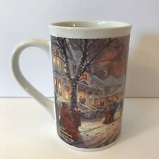 THOMAS KINKADE Ceramic Coffee Mug A Victorian Christmas Carol 2011