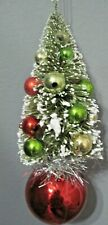 MID CENTURY PUTZ BOTTLE BRUSH TREE CHRISTMAS  ORNAMENT