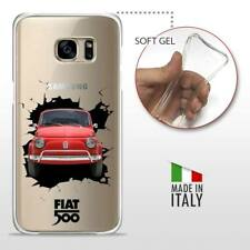 Samsung Galaxy S7 TPU CASE COVER PROTETTIVA TRASPARENTE VINTAGE Fiat 500 Crash