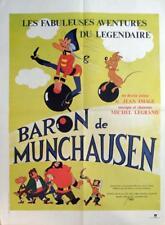 ADVENTURES OF BARON MUNCHAUSEN - CARTOON - ORIGINAL FRENCH MOVIE POSTER