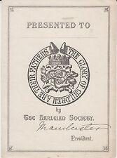 § Ex-libris (Bookplate) THE HARLEIAN SOCIETY §