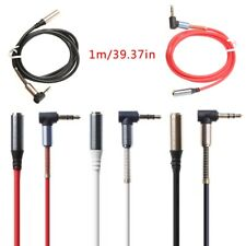 90 Degree Right Angle Male To Female Audio 3.5MM Jack Stereo Aux Cable Cord 1M