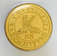 NYU New York University Student Committee Kickers 55 Lapel Pin Badge Rare (C13)