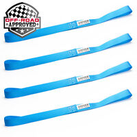 "4 Pack 18"" Soft Loop Motorcycle Handlebar Tie Down Heavy Duty Strap Extensions"