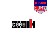 Case IH Tractor Agriculture Chrome 4 Stickers 4x4 Inches Sticker Decal