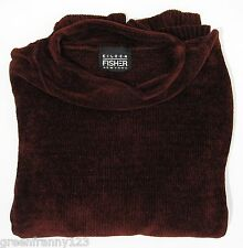 EILEEN FISHER NY VINTAGE Size 1 Chenille Sweater Bergundy Red Tunic with Stole