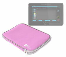 Pink Neoprene Tablet Pouch/Case/Sleeve Fits Kurio 10S