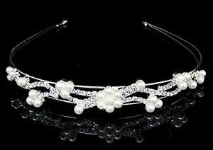 Cerchietto Branch Strass Perle accessori capelli fermacapelli acconciatura sposa