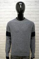 TOMMY HILFIGER Uomo XL Maglione Lana Grigio Pullover Cardigan Felpa Sweater Man