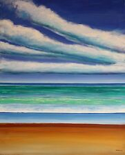 "Original Oil on Canvas ""Summer Clouds"" by Ross D Jahnig"