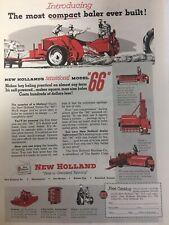 New Holland Hay Baler Vintage Magazine Print Ad 1953