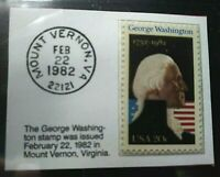 1982 20c George Washington Mt. Vernon Stamp GMA Gem MT 10