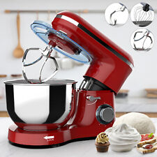 6 Speed Electric Stand Mixer 660W 7QT Tilt-Head Kitchen Food Mixing Machine Red
