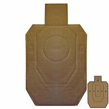 Law Enforcement Targets IPSC Cardboard 18x30 Brown/White 100pack, IPSC-CB