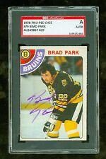 Brad Park Autographed 1978-79 O-Pee-Chee Hockey Card #79 SGC Authentic Encased